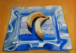 Fr. Manalti bananes-aquarelle